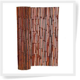 """Bamboo Fence Mahogany 1"""" x 8' x 8' ( 2 Pack )"""