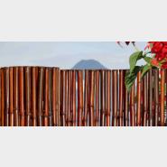 Mahogany Bamboo Fence
