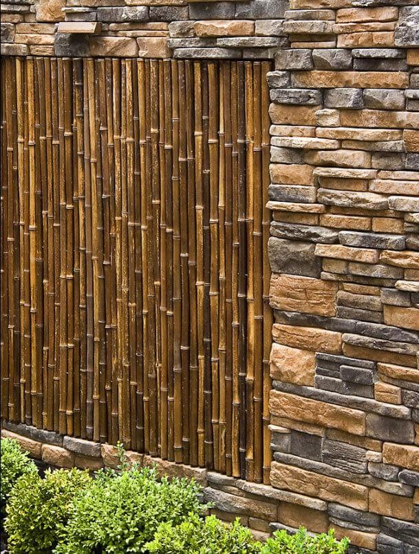 Bamboo Fence Natural Black 1