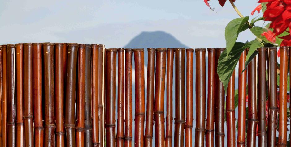 Bamboo Fencing Mahogany - Sunset Bamboo Sunset Bamboo